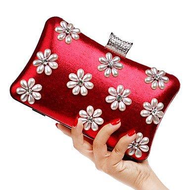 pwne L. In West Frauen Elegante High-Grade Blumendruck Abend Tasche Red