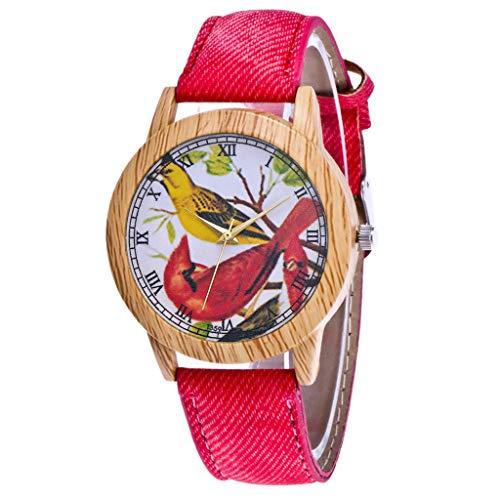 IG Invictus Damen Mode Casual Lederstrap Analog Quarz Runde Uhr T359 N Quarzuhr Rote Quarz Uhr