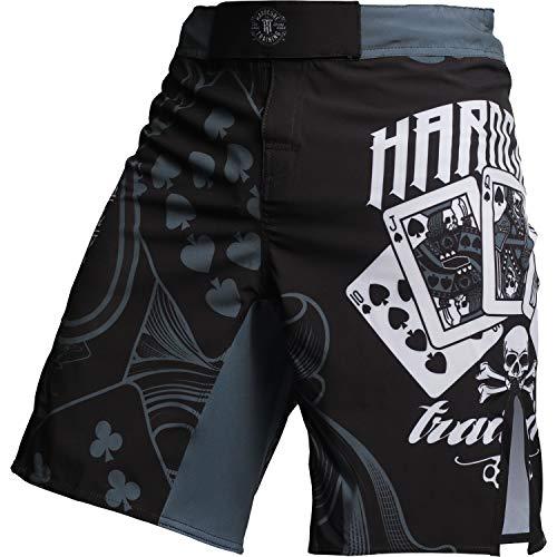 Hardcore Training Fight Shorts Men's The Gambler - Boxing MMA BJJ Fitness Active-m Pantalones Cortos Hombre