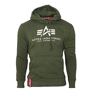 Alpha Industries Herren Hoody Basic grün M