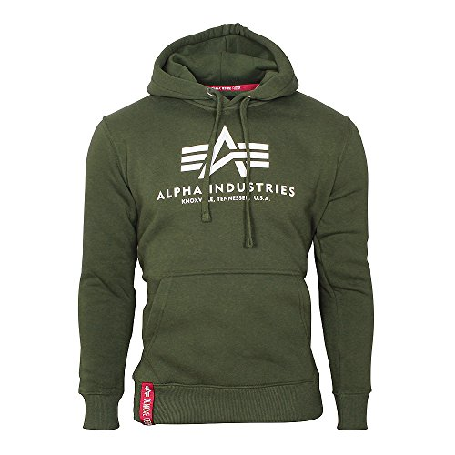 Alpha Industries Herren Oberteile / Hoody Basic grün XL