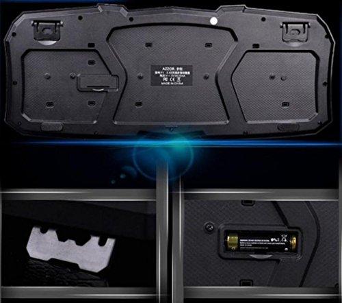 fulltime® azzor Z 2.4G Gaming Clavier sans fil et kit de souris avec Media Control Keys, 26x 98x 445mm (Clavier), noir 8