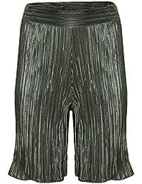 62598e7048e6 Verso Fashion Womens Ladies Pleated Plain Elastic Waist Wide Leg Holiday  Beachwear Palazzo Pants