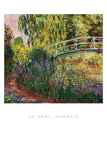Claude Monet – Le Pont Japonais Kunstdruck (60,96 x 81,28 cm)