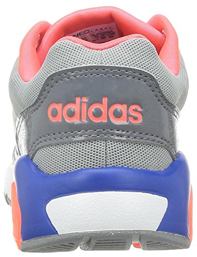 adidas Damen Freizeit Sneaker NEO RUN 9TIES grau clear onix/ftwr white/flash red s15