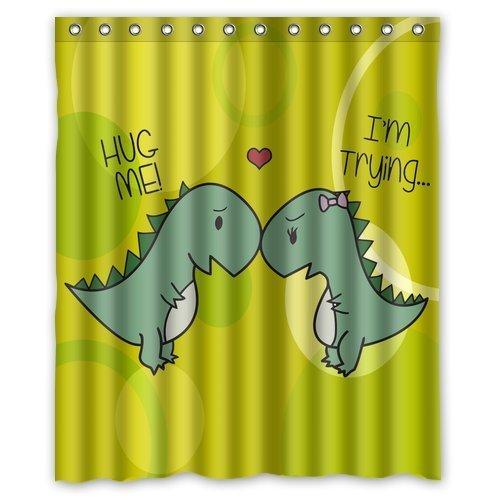 (CHATAE Custom Dinosaurier Polyester-Wasserdicht-152,4x 182,9cm Vorhang für die Dusche)