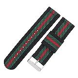 Premium-NATO Band 22mm schwarz grün Uhrenarmband Sportarmband Armband rot Nylon Ersatz für Männer Frauen