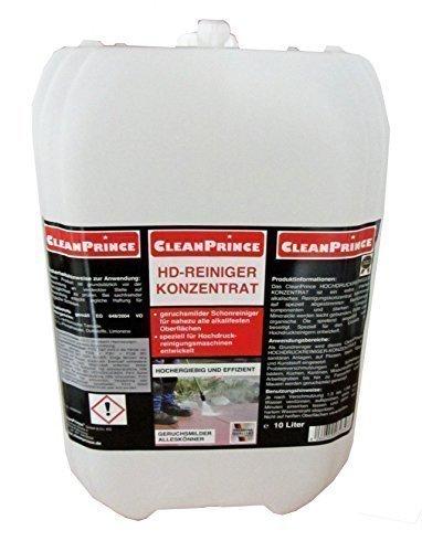 10 Liter Kanister CleanPrince HD-Reiniger HD Hochdruck Hochdruckreiniger KONZENTRAT Reiniger Universalreiniger Dampfstrahler Dampfstrahlerreinigungsmittel Dampfstrahlerreiniger Sprühreiniger