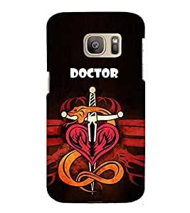 HiFi Designer Phone Back Case Cover Samsung Galaxy S7 Edge :: Samsung Galaxy S7 Edge Duos :: Samsung Galaxy S7 Edge G935F G935 G935Fd ( Doctor Symbol Life Saver )