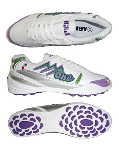AGLA PROFESSIONAL ONE EXE OUTDOOR scarpe calcetto futsal calcio a 5 anti-shock system White/Violet