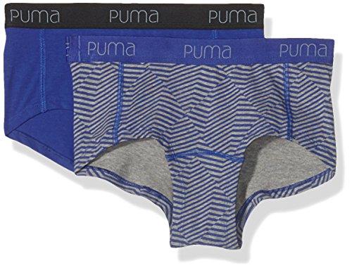 Puma Angle Striped Mini Shorts Paire de 2 shorties pour femme Multicolore - Bleu roi