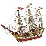 ROBOTIME 3D Puzzle di legno Nave Barca giocattolo dei bambini Woodencraft Edilizia Spedizioni Kit modello per adulti Santa Maria