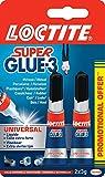Loctite Colle forte/ Super Glue 3 - Universal - 2 x 3g