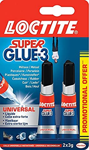 Loctite Colle forte/ Super Glue 3 - Universal - 3 g - Lot de 2