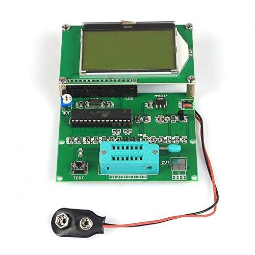Yosoo GM328 Pantalla LCD para probador de transistores, medidor ESR, cinemómetro, generador de onda cuadrada.