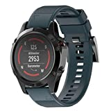Smart Armband für Garmin Fenix 5 GPS Watch, ESAILQ Ersatz Silicagel Soft Band Strap Für Garmin Fenix 5 GPS Watch (Marine)