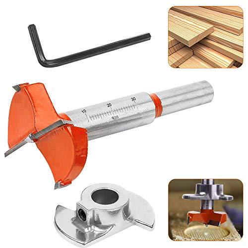 RMENOOR Forstnerbohrer 35 mm verstellbar Positionierbohrer Scharnierlochschneider für Schrankscharniere und Montageplatten