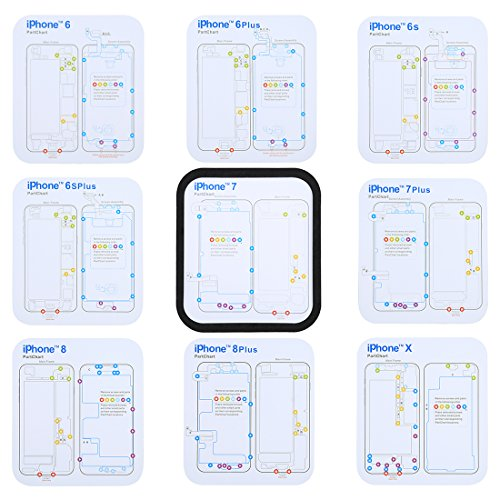 WEIHONG Exquisite Tools Magnetic Memory Screws Mat für iPhone X & 8 & 8 Plus & 7 & 7 Plus & 6s Plus & 6s & 6 & 6 Plus, Größe: 17,8 cm x 15,9 cm - Iphone Mat Schraube 4