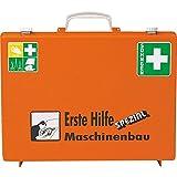 SÖHNGEN Erste-Hilfe-Koffer Maschinenbau, Wandhalt, Orange, ASR A4.3/Din 13157, mit PRÜFPLAKETTE