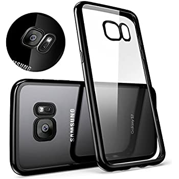 Samsung Galaxy S7 Case, Mture [Drop Protection] Crystal Clear [Metal Electroplating Technology] Ultra-Thin Soft Gel TPU Bumper Case for Samsung Galaxy S7 - Jet Black