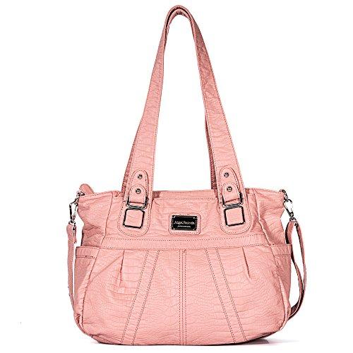 Angel Barcelo Tasche Hobo Frauen Tasche geräumig mehrere Taschen Street Ladies ' Schultertasche Fashion PU Tote Bag (2018 rosa)