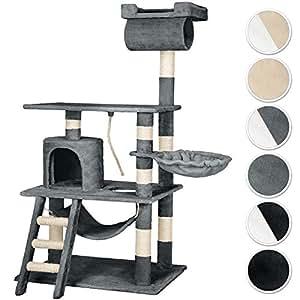 tectake arbre chat griffoir grattoir geant avec hamac et tunnel hauteur 141 cm diverses. Black Bedroom Furniture Sets. Home Design Ideas