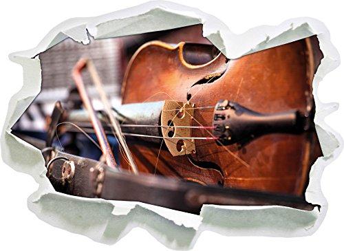 vecchio-violino-carta-3d-autoadesivo-della-parete-formato-62x45-cm-decorazione-della-parete-3d-wall-
