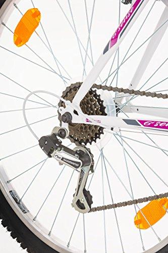 26″ Inch, CoollooK, 6ST SENSE, Women\'s Mountain Bike, Hardtail Frame ...