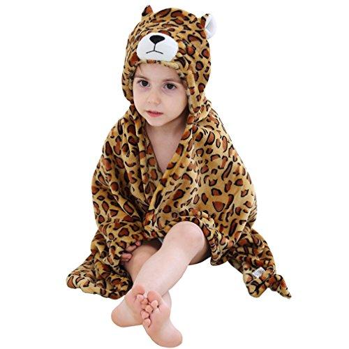 Baby Dem Meer Unter Kostüme (MICHLEY Baby Jungen und Mädchen mit Kapuze Tier Handtuch Body)