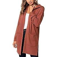 Hanomes Damen pullover, Plus Size Damen Langarm Solide Pocket Cardigan Tops Pullover Mantel Mit Kapuze preisvergleich bei billige-tabletten.eu