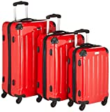 Packenger Koffer 3er-Set, M/L/XL, Rot