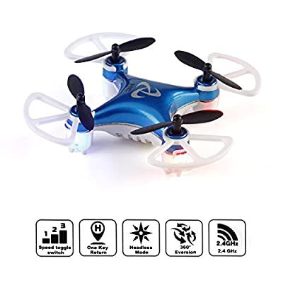 Mini Pocket Drone Kit Headless Mode 2.4Ghz Nano LED RC Quadcopter Altitude Hold Indoor Outdoor - For Beginners