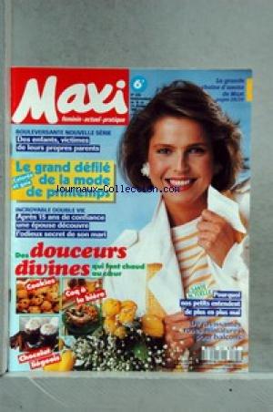 MAXI [No 225] du 18/02/1991 - LE GRAND DEFILE DE LA MODE DE PRINTEMPS - DES ENFANTS - VICTIMES DE LEURS PROPRES PARENTS - RECETTES. par Collectif