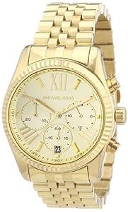 Reloj Michael Kors MK5556 de cuarzo para mujer con correa de acero inoxidable bañado, color dorado de Michael Kors