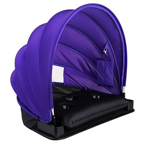 HAIYANLE verstellbar Sun Shelter Face und tragbar Sonne Schatten für Strand Garten, violett