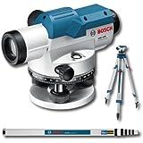Bosch GOL32DSET - Nivel óptico con varilla de nivelación GR500 y trípode BT160
