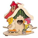 Kuhnert Bastelset Rauchhaus mit Vögel - aus Holz zum Zusammenbauen