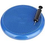 ScSPORTS Ballkissen mit Pumpe Pilates Luftpad blau