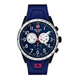 Swiss Alpine Military by Grovana Herrenuhr Chrono 10 ATM Blue 7082.9875SAM