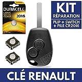 Coque pour Télécommande Clef Plip RENAULT Clio 3 • Megane • Modus • Kangoo...