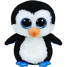 Ty Beanie Boos 36904 Waddles - Pingüino de peluche, 22 cm [importado de Alemania]