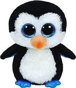 Ty Beanie Boos 36904 Waddles - Pingüino de peluche, 22 cm importado de Alemania
