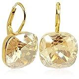 Ohrringe mit Kristallen von Swarovski Gold Golden Shadow NOBEL SCHMUCK