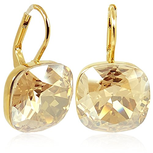 Ohrringe mit Kristallen von Swarovski® Gold Golden Shadow NOBEL SCHMUCK