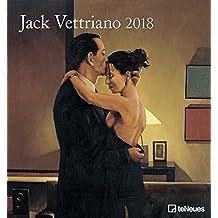 Jack Vettriano 2018 - Kunstkalender 2018, Wandkalender, Spiralbindung, film noir  -  45 x 48 cm