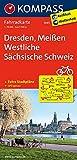 Dresden, Meißen, Westliche Sächsische Schweiz: Fahrradkarte. GPS-genau. 1:70000: Fietskaart 1:70 000 (KOMPASS-Fahrradkarten Deutschland, Band 3085)