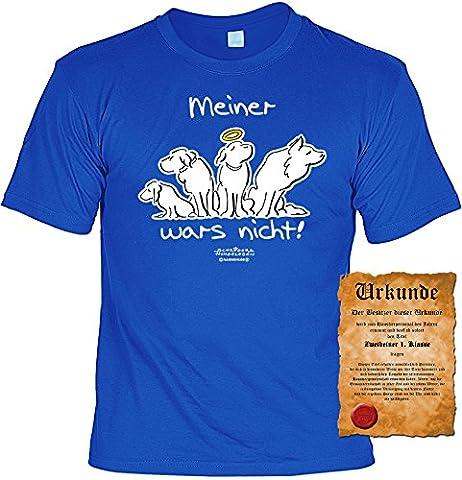 Hundeversteher T-Shirt Meiner wars nicht! - Veri Set Hunde T-Shirt