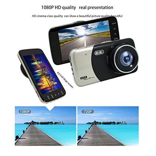 hwarze X16 Fahrkamera HD 1080P Dual Lens Auto DVR Dash Cam Video Recorder Nachtsicht Rückfahrkamera (Schwarz) ()