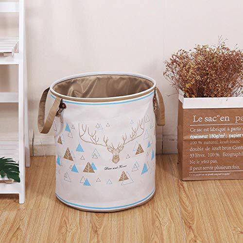 YUUWO Faltbare Aufbewahrungsbox,Spielzeugkorb, Aufbewahrungskorb, Wäschekorb Aus Stoff, Wäschekorb Aus Segeltuch@D