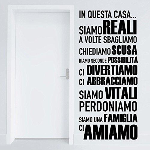Adesiviamo 1113-M In questa casa ci Amiamo - adesivo da muro -...